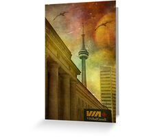 Flying High Over Toronto Greeting Card