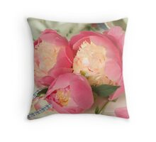 Peony Bowl of Beauty Throw Pillow