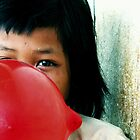 Red balloon- Moments of Joy and Easiness by strawberrytree