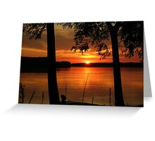 The sunset on the Danube..... Greeting Card
