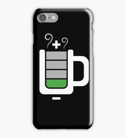 Cup battery charging iPhone Case/Skin