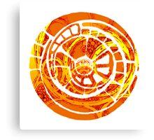 the orange spiral cog Canvas Print