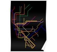 NYC Subway Lines Poster