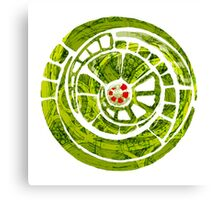 the green spiral cog Canvas Print