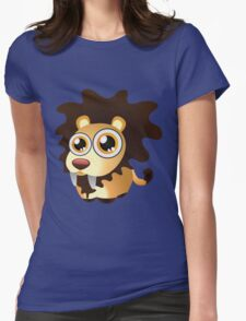 Cute lion with big eyes Womens Fitted T-Shirt