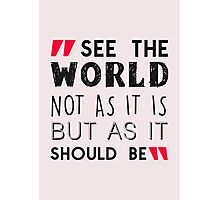 See The World Photographic Print