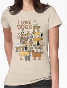 I Love Dogs Womens Fitted T-Shirt