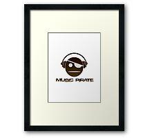 Music Pirate Dark Edition Framed Print