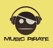 Music Pirate Dark Edition Kids Tee