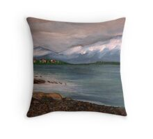 Norwegian fiord Throw Pillow