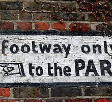 """""""to the PARK!"""" by bertie weal"""