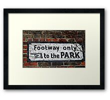 """to the PARK!"" Framed Print"