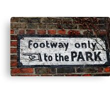 """""""to the PARK!"""" Canvas Print"""
