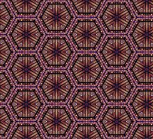 City Lights Geometric Kaleidoscope Pattern by tanyadraws