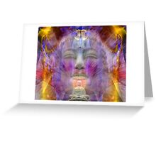 Buddha and the golden beams Greeting Card