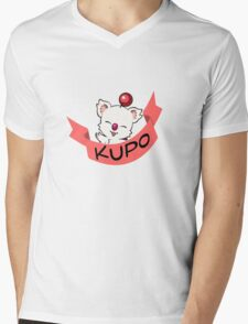 Moogle Final Fantasy Mens V-Neck T-Shirt