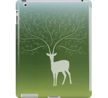 Deer with tree branch horns iPad Case/Skin