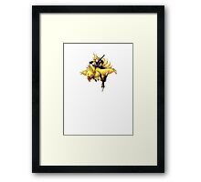 Cloud rides a chocobo !! Framed Print