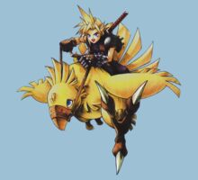 Cloud rides a chocobo !! One Piece - Short Sleeve