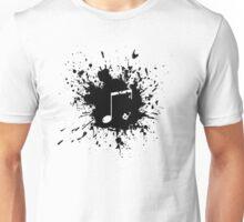 note in black paint Unisex T-Shirt