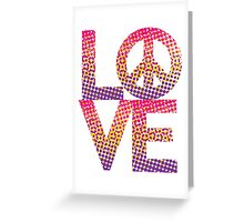 LOVE Peace Color Halftone Greeting Card