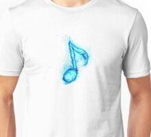 blue flaming note ( 2 ) Unisex T-Shirt