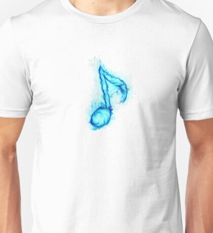 blue flaming note ( 2 ) Unisex T-Shirt