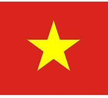 VIETNAM, Vietnamese, Vietnamese Flag, Flag of Vietnam, by TOM HILL - Designer