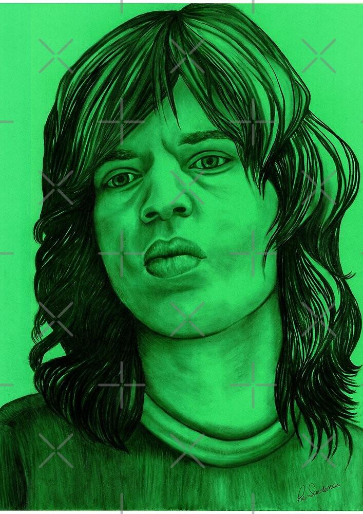Mick Jagger celebrity portrait by Margaret Sanderson