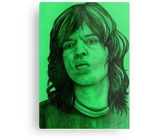Mick Jagger celebrity portrait Metal Print