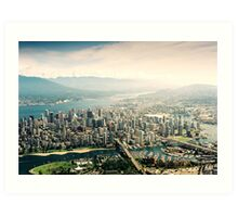 Vancouver (Aerial View) Art Print