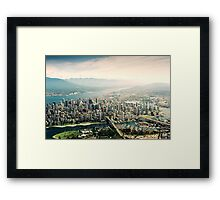 Vancouver (Aerial View) Framed Print