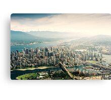 Vancouver (Aerial View) Metal Print