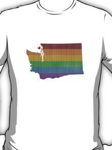 Washington Rainbow Gay Pride T-Shirt