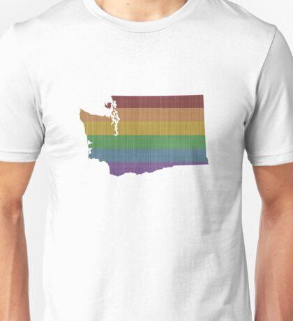 Washington Rainbow Gay Pride Unisex T-Shirt