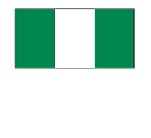 Nigeria, Flag of Nigeria, Nigerian Flag, Flags of Africa by TOM HILL - Designer