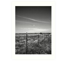 A Wire On The Fence And A Wire In The Sky Art Print