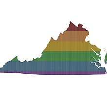 Virginia Rainbow Gay Pride by surgedesigns