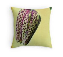 Fritillaria meleagris Throw Pillow