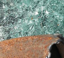 Smashed Glass and A Rusty Pipe by Nicole S. Moore