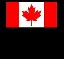 "Canadian Flag, Pure & Simple on Black, National Flag of Canada, Canada, ""A Mari Usque Ad Mare"" by TOM HILL - Designer"