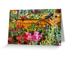 Country - At the farmers market Greeting Card