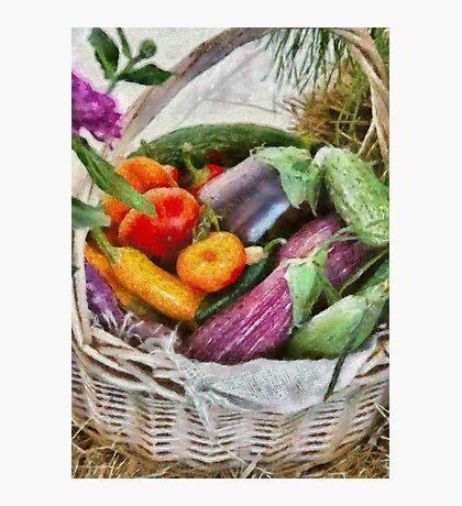Farm - Fresh Vegetables Photographic Print