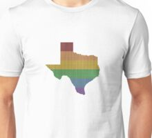 Texas Rainbow Gay Pride Unisex T-Shirt