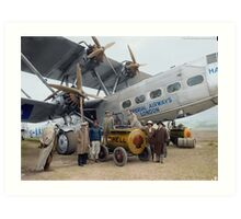 Imperial Airways Fueling Up Art Print