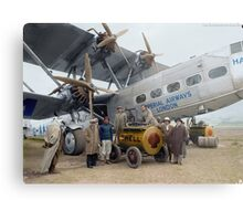 Imperial Airways Fueling Up Metal Print
