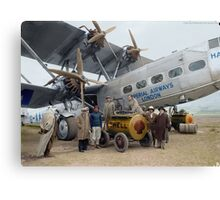 Imperial Airways Fueling Up Canvas Print