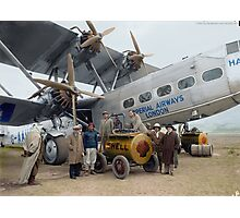 Imperial Airways Fueling Up Photographic Print