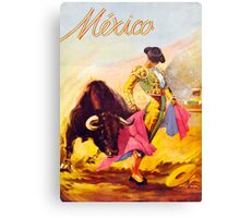 Mexico Bull Fighter Vintage Poster Restored Canvas Print