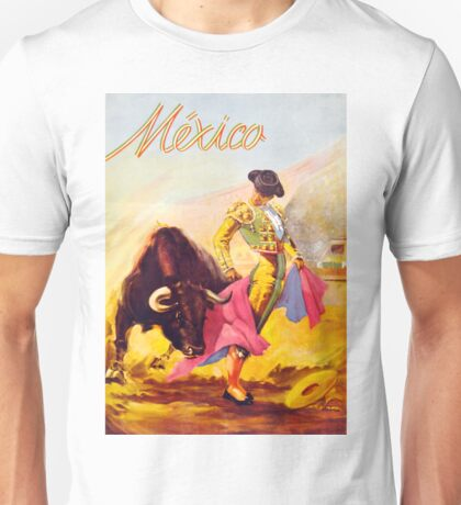 Mexico Bull Fighter Vintage Poster Restored Unisex T-Shirt